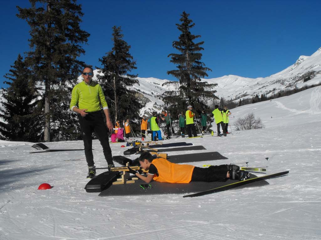 Cours de biathlon
