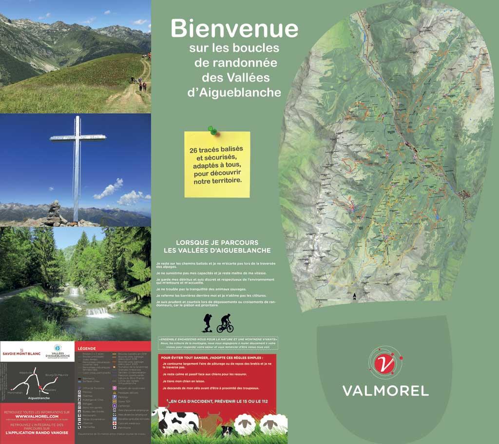 Maison de la Montagne de Nâves carte de randonnée