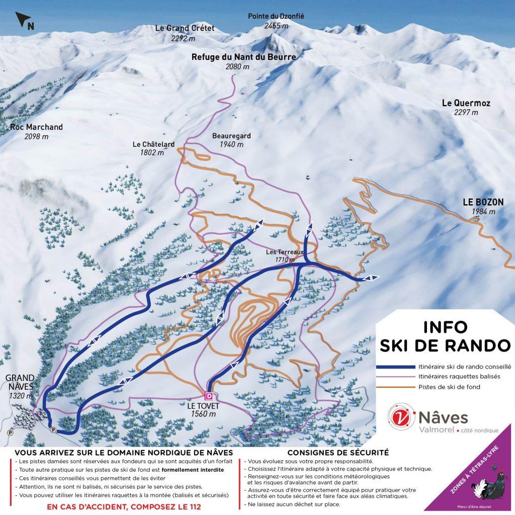 Maison de la montagne de Nâves plan ski de randonnée