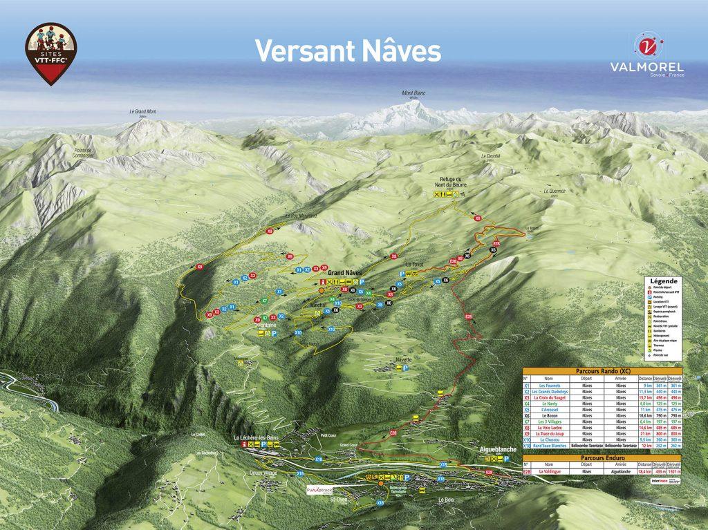 Carte Domaine VTT Nâves
