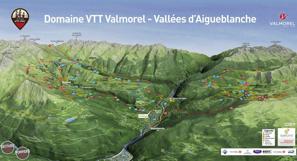Carte Domaine VTT Valmorel